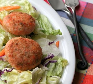 Рецепт Котлеты из крабового мяса, семги и креветок