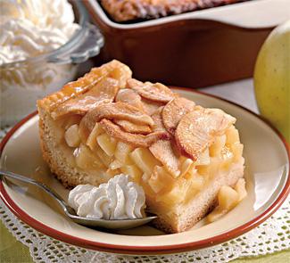 Рецепт Яблочный пирог с винным кремом