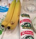 Бананово-творожный завтрак, пошаговый рецепт с фото