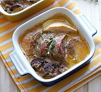 Рецепт Филе миньон из свинины по-нормандски