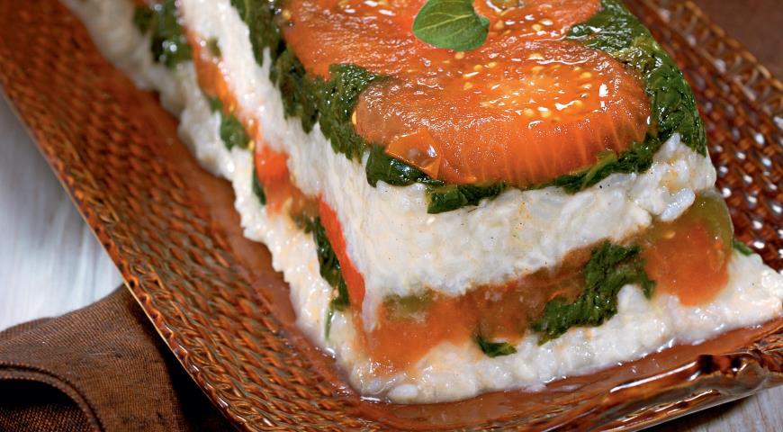 Рецепт Террин с перцами и помидорами