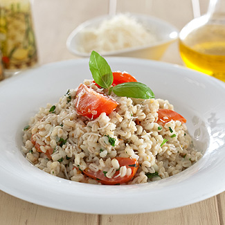 Рецепт Перловка с запеченными помидорами в мультиварке