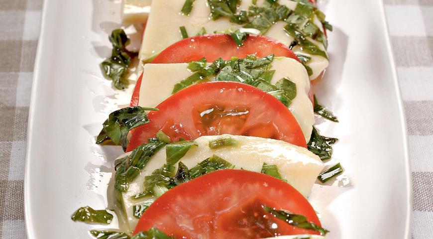 Рецепт Маринованный сыр с помидорами