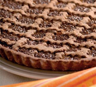 Рецепт Шоколадный пирог с курагой