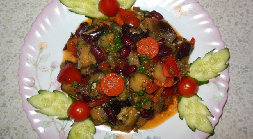 Рецепт Соте из овощей с фасолью
