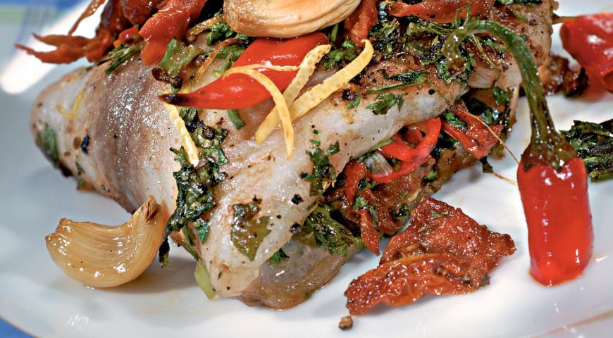 Рецепт Рыба с вялеными томатами