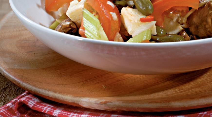 Рецепт Сборный салат с помидорами