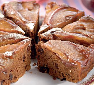 Рецепт Постный пряный пирог с яблоками на пару