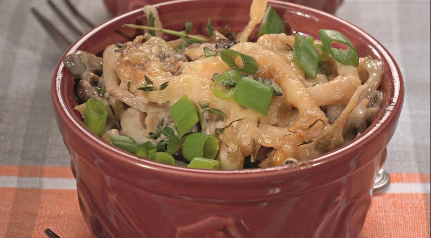 Рецепт Грибные жюльены с кальмарами