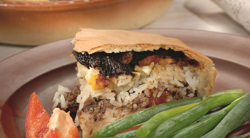 Рецепт Пирог Губадия с мясом