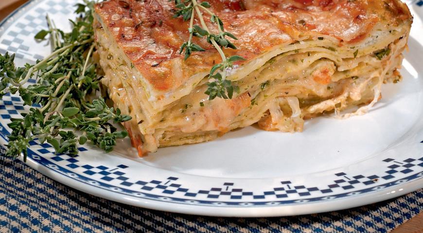 Рецепт Лазанья с сыром и базиликом