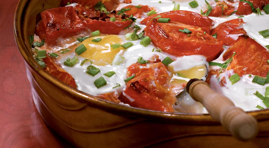 Рецепт Помидоры, запеченные с яйцом