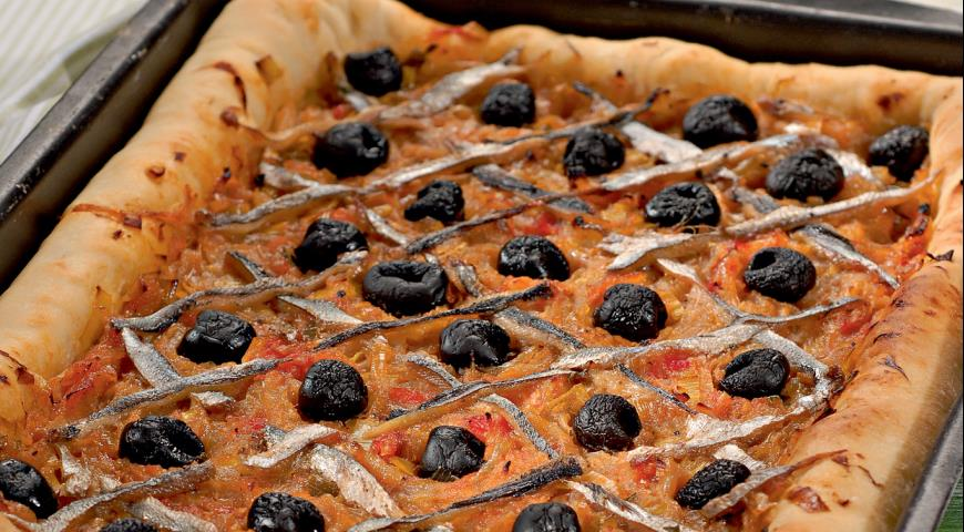 Рецепт Писсаладьер, прованский луковый пирог