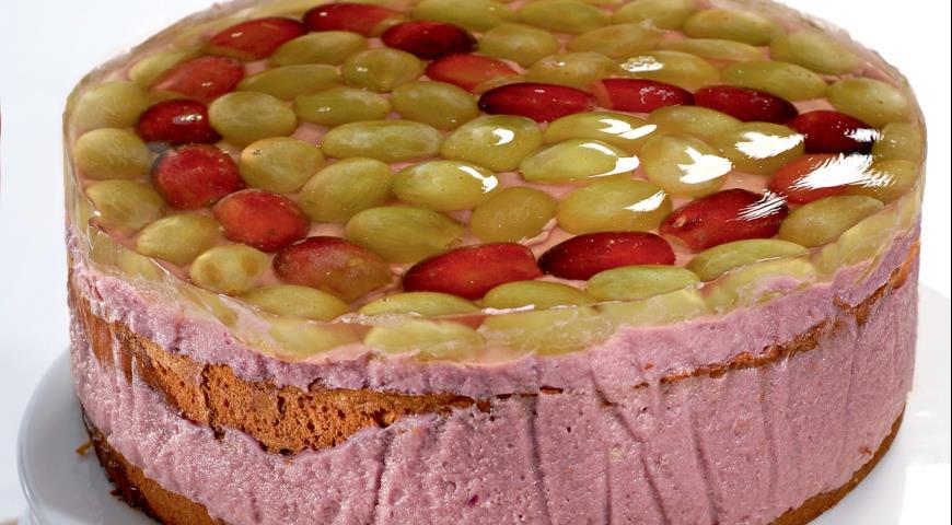 Рецепт Виноградный торт в желе
