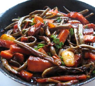 Рецепт Спаржевая фасоль с овощами