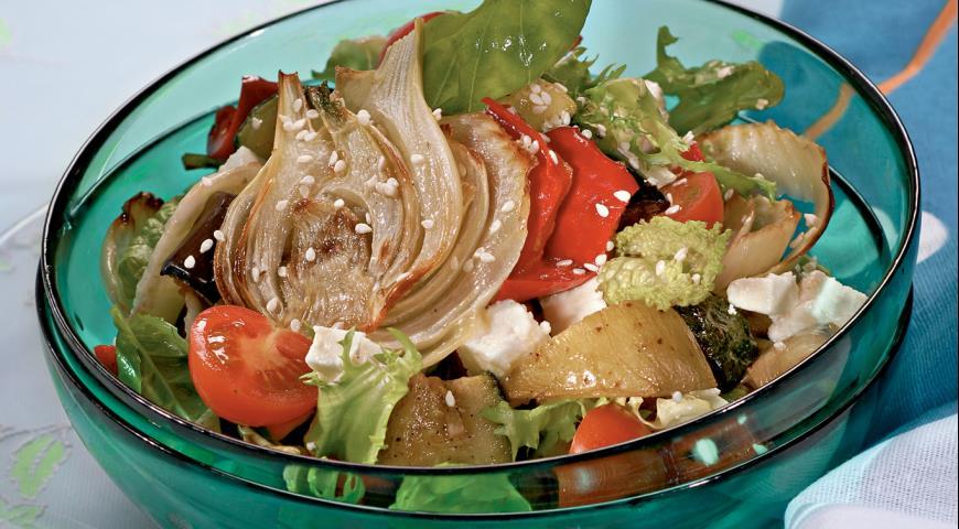 Рецепт Салат из жареных овощей