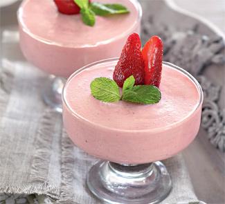 Рецепт Клубничный мусс с йогуртом