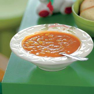 Рецепт Осенний суп с кукурузой, перцем и тыквой