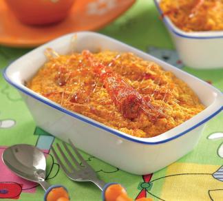 Рецепт Морковно-яблочный пудинг