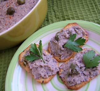 Рецепт Паштет из фасоли с грибами и каперсами