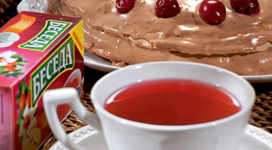 Рецепт Шоколадная меренга с вишней