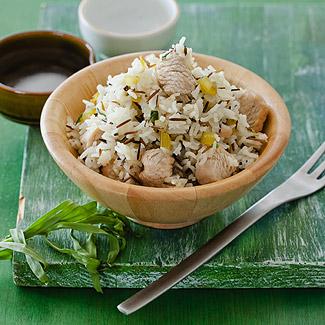 Рецепт Филе индейки с диким рисом и тархуном в мультиварке