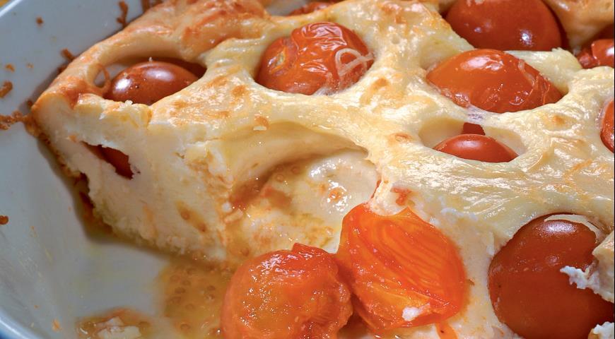 Рецепт Творожная запеканка с помидорами