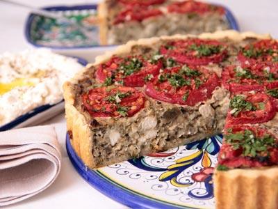 Заливной пирог с вишней и творогом рецепт с фото