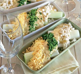 Лук-порей с горчичным соусом, пошаговый рецепт с фото