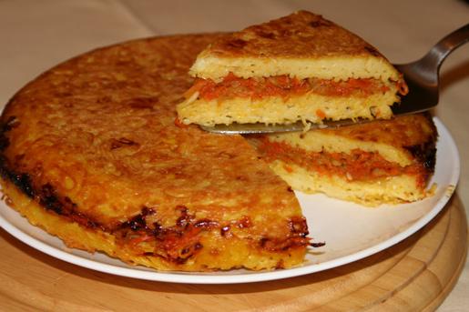 Рецепт Запеканка из вермишели с овощной начинкой
