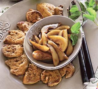 Рецепт Фуа-гра с бальзамическими грушами