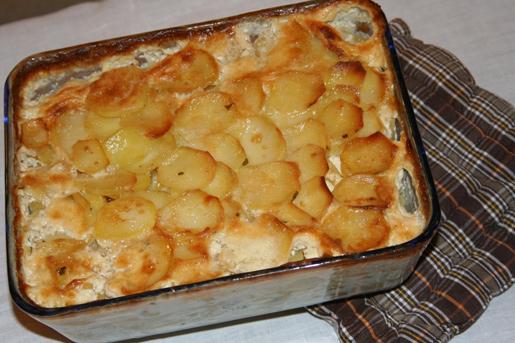 Рецепт Запеканка из рыбы с картофелем
