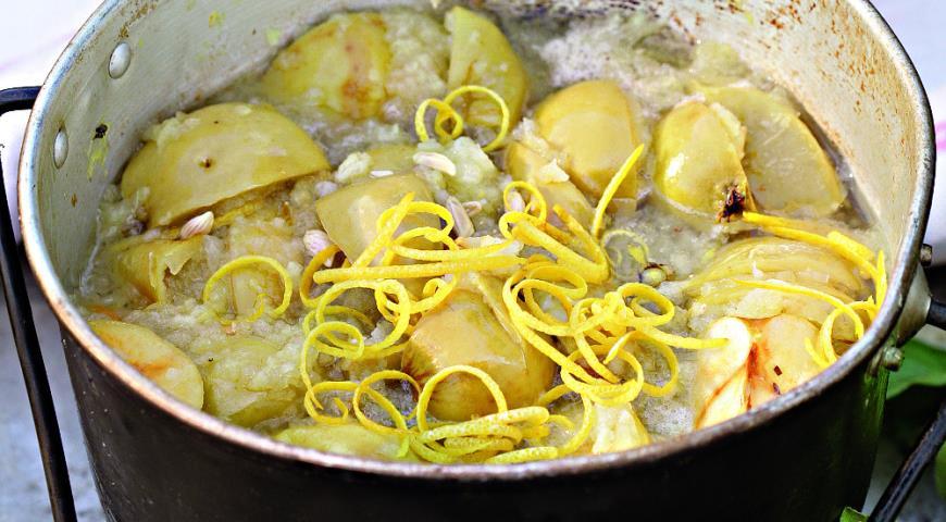 Рецепт Желе из диких яблок с травами