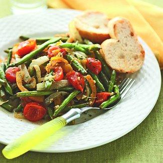 Рецепт Зеленая фасоль с помидорами