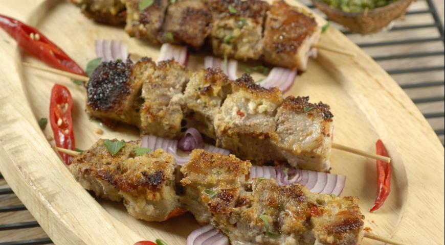 Рецепт Свиные шашлыки в кокосовой стружке