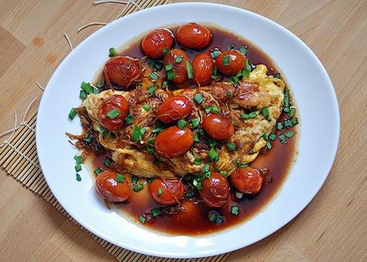 Рецепт Китайская яичница с помидорами