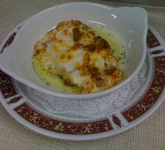 Рецепт Камчатские Крабы, запеченные в сливках с белыми грибами
