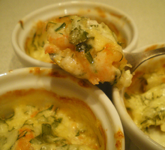 Рецепт Креветки в сметанно-сырном соусе