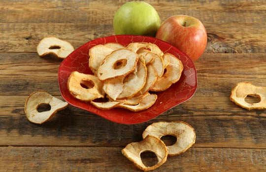 Яблочные чипсы в духовке рецепт с фото