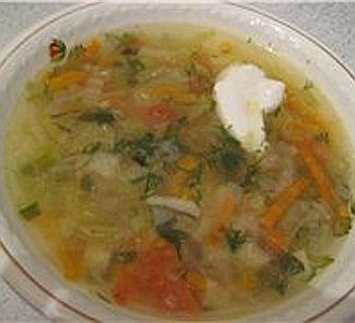 Рецепт Легкий овощной суп с китайской капустой