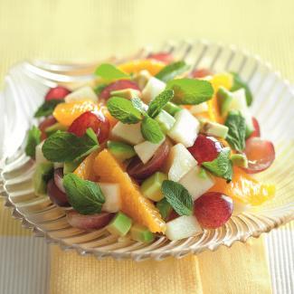 Рецепт Фруктовый салат с розмариновым медом