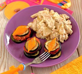 Рецепт Курица в нежном соусе с яблоками