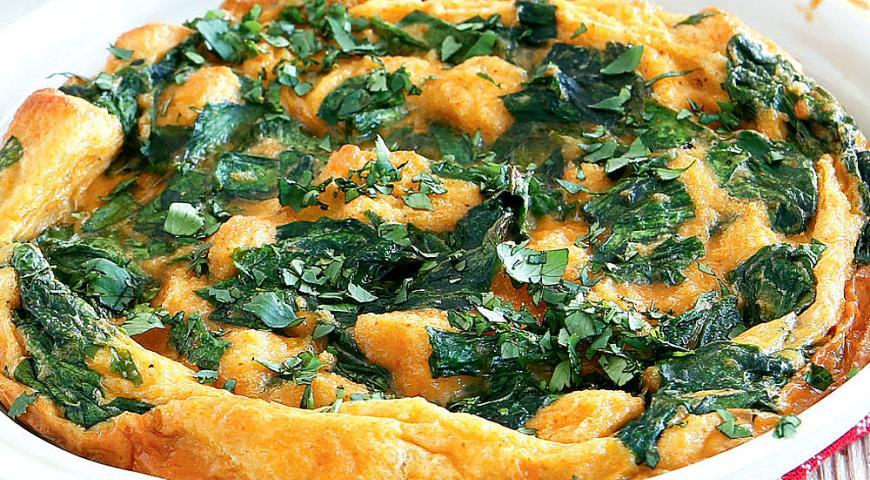 Рецепт Запеченный зеленый омлет
