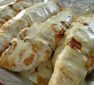 Рецепт Куринные грудки, фаршированные грибами и сыром сулугуни