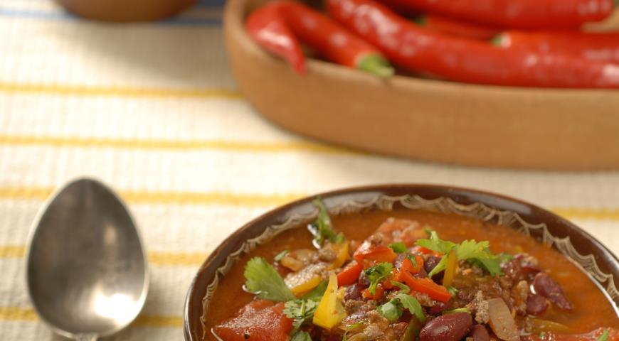 Рецепт Суп чили кон карне