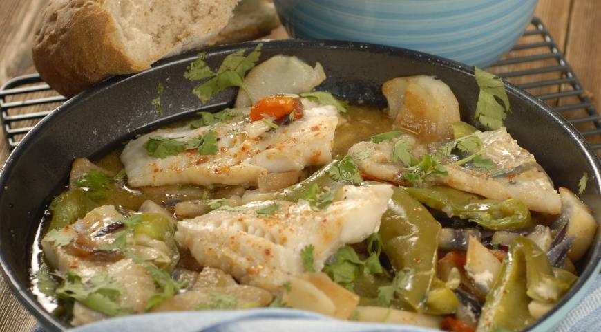 Рецепт Филе трески с летними овощами
