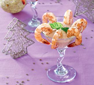 Рецепт Креветочный коктейль с томатным дипом
