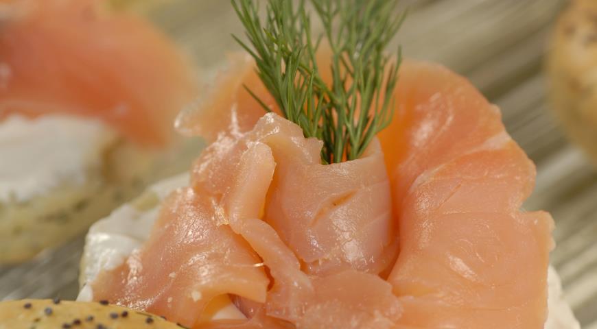 Рецепт Укропные сконсы с лососем