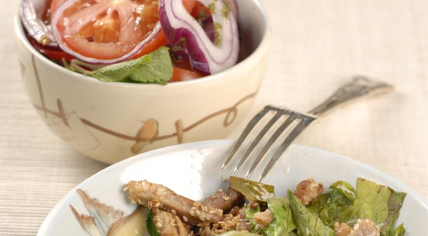 Рецепт Свинина с кунжутом