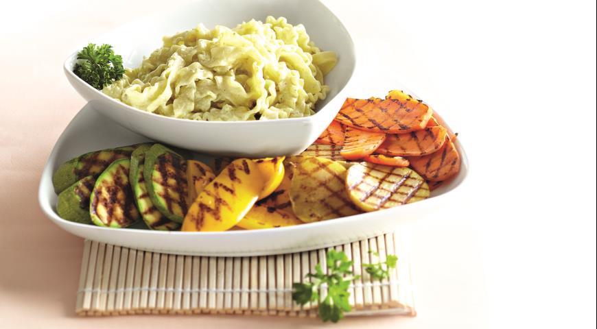 Рецепт Теплый салат с пастой и овощами-гриль